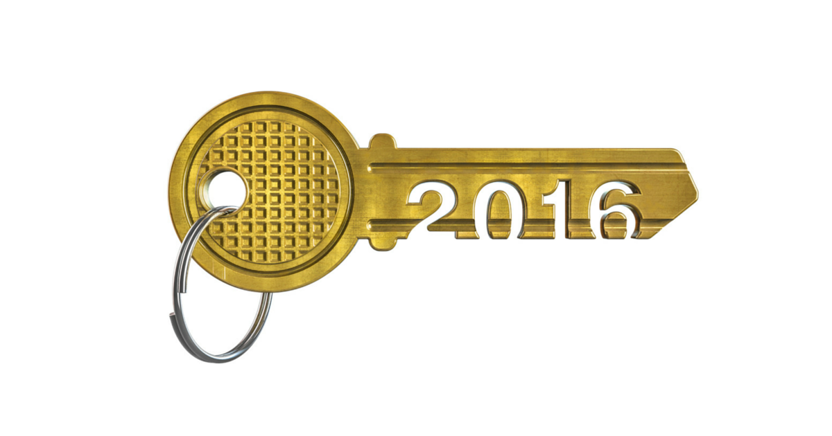house key with 2016 carved into stem