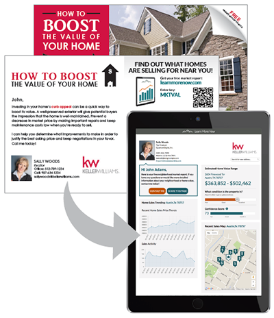 Keller Williams (KW) realty approved marketing printing