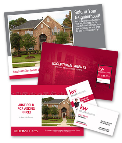 Keller Williams business cards for real estate
