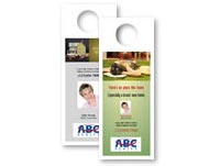 Real estate print on demand door hangers