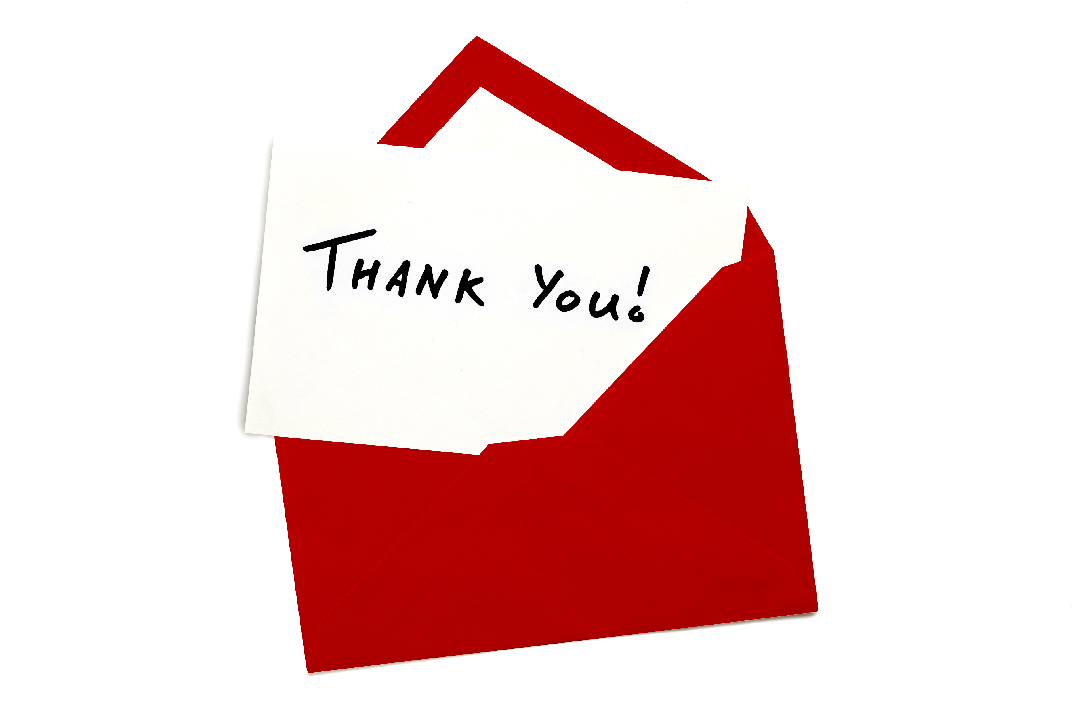 real estate agent sending a thank you card to a previous client